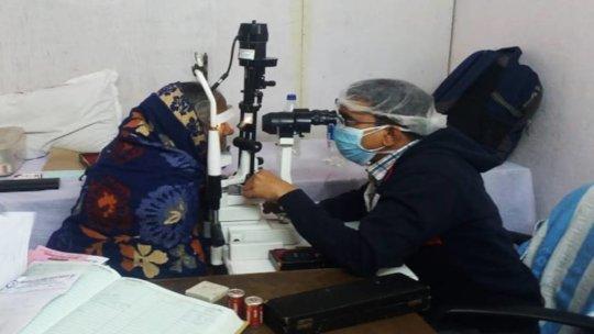 Reaching with Eye Testing facilities