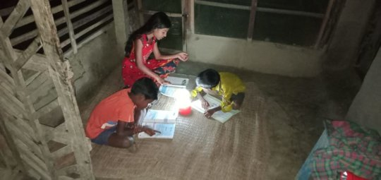 Studies once again- with Solar Lanterns ....