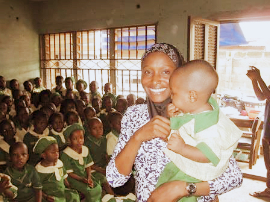 Adenike at the School Salvation Nursery & Primary