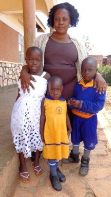 Juliet with her three children