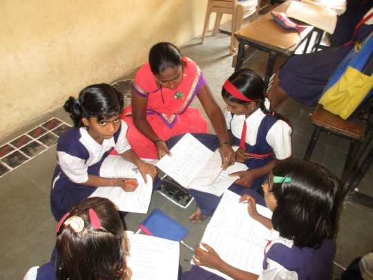 Saloni studying in the ASC