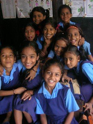 A group of Nanhi Kalis at a school in Mumbai