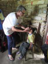 Clinical officer treating Bikash Surkheti