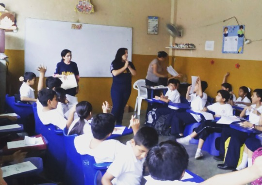 Working with the students
