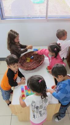 Children exploring and enjoying their classroom