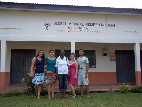 GlobeMed summer team with head nurse, Margaret