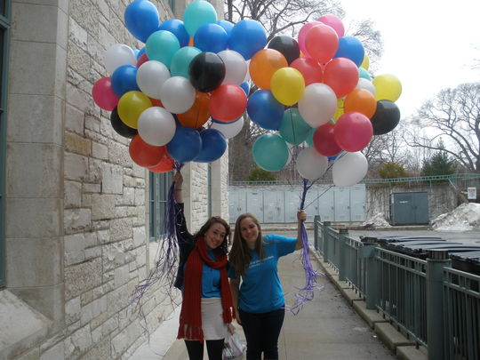World Day of Social Justice balloon campaign