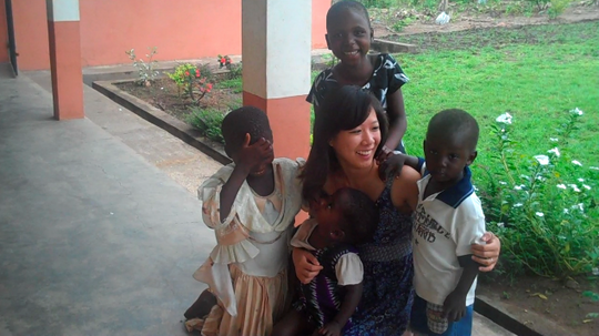with children at the Center