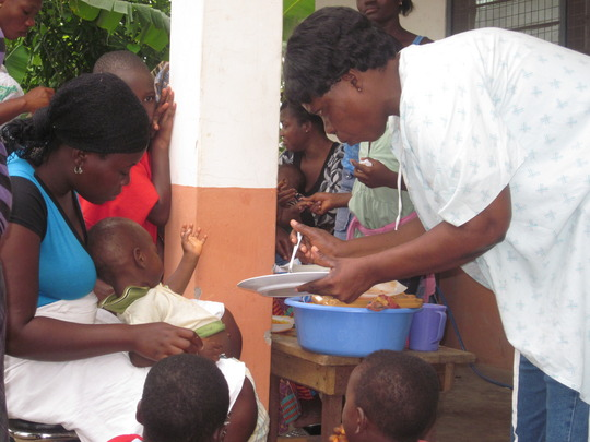 Nurse Love putting the nutrition program to action