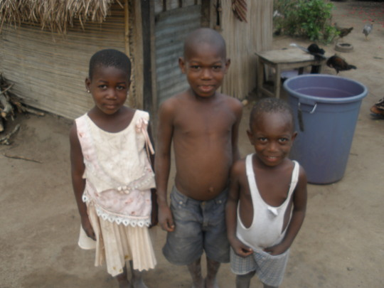 Children in Ando village