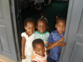 Some of the Center's younger patients