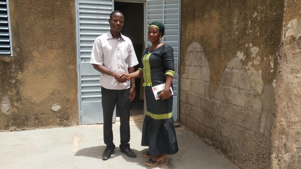 Djiguimde, school director, and Haoua, CBG-WA
