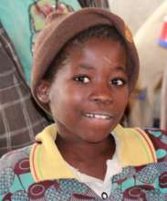 Kamsi School Girl Enjoying New Solar Lights
