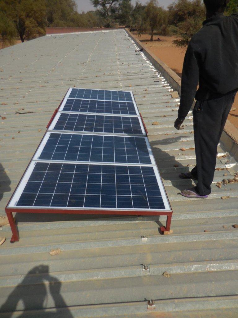 Solar panel installation for school