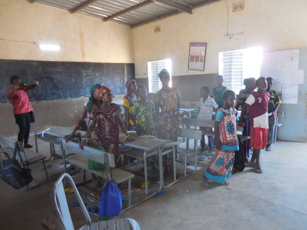 Inside of the classroom showing solar light