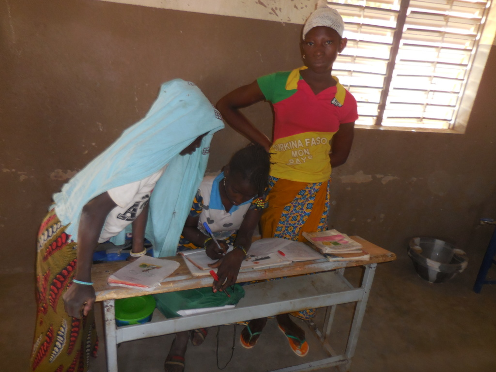 Assaita (right) and her classmates