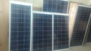 Solar panels from the vendor shop, Burkina Faso