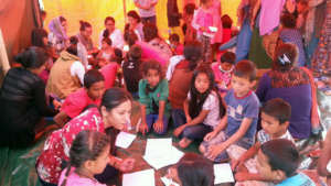 Grassroots partner conducting therapy session