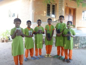 Children With Herbal Plants