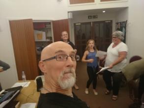 A few members of Aurora Chorealis in rehearsal