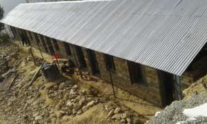 Nearly completed building of School