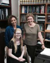 Heidi with UCLA vision researchers.