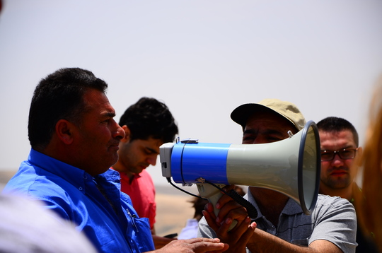 Ali' al Farhoud from 'Atir, also facing eviction