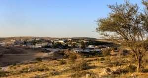 A landscape view of the village