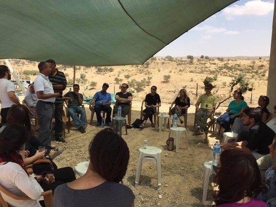 Palestine Works delegation in Umm al-Hiran