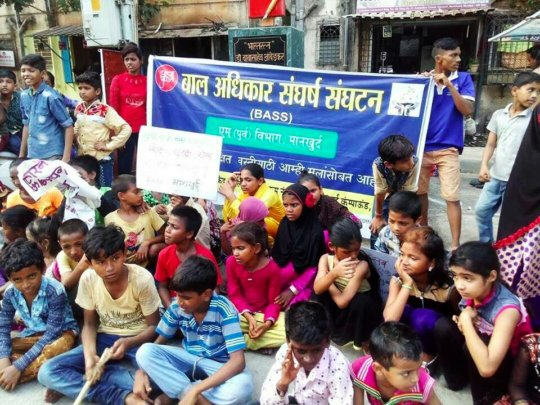 Children from CRC during rally