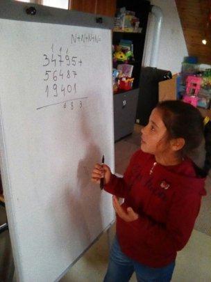 Doing a maths problem