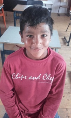 Alex, age 10, recently joined the programme