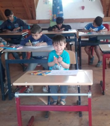 Ianis, age 3, recently joined the programme