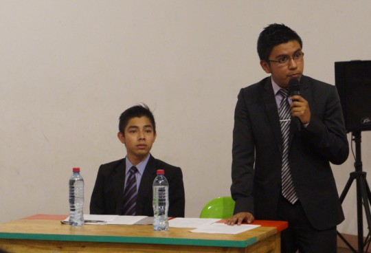 Winners Leonel & Manuel giving critical insight