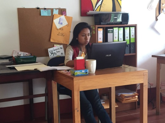 Working in the CasaSito Office