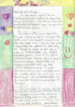 Thank you letter from a student!