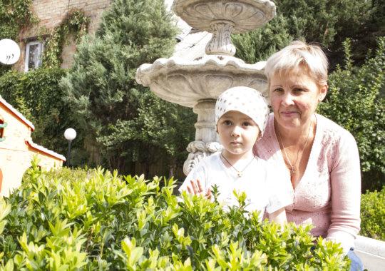 Yeva with her granny