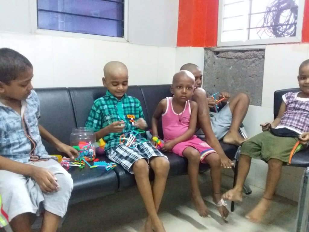 Play therapy for children in MNJ Cancer Hospital
