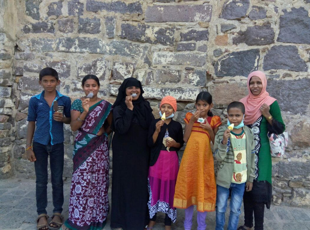 Kids outing to Golkonda Fort on weekend with team