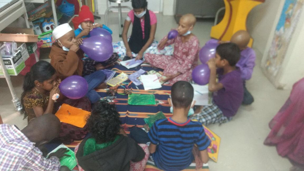 Play therapy for children with cancer