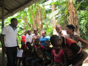 Cassava/Poultry Group in session with ARRDEC staff