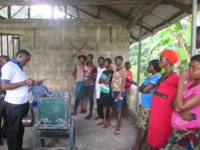 Cassava & Poultry Group being mentored