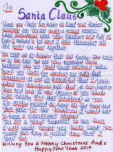 A letter to Santa by a child in El Shaddai care