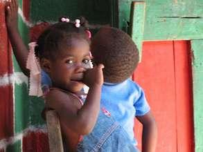 Toddlers in Haiti