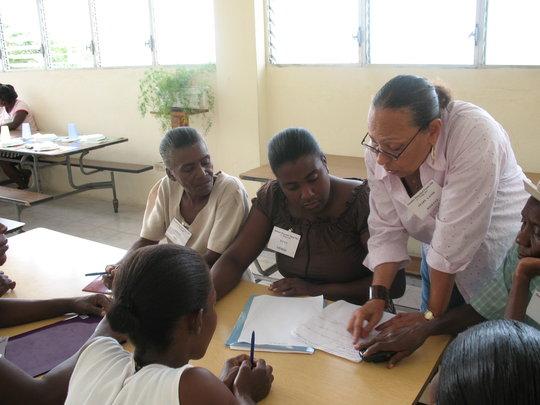 Women at a Lambi Fund workshop