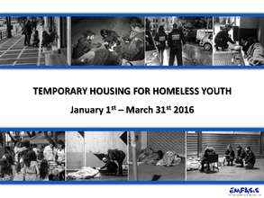 Temporary Housing For Homeless Youth - REPORT III (PDF)