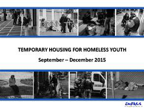 Temporary Housing For Homeless Youth - REPORT II (PDF)