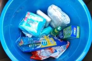 Contents of hygiene kit distributed