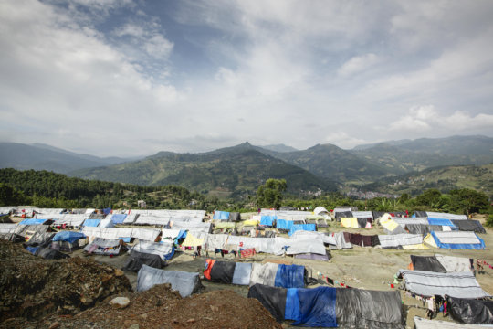 View of one of the camps where Aura Freedom works.
