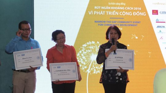 Three grantees receiving approx. US $6,800 each